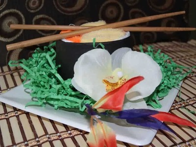 How to make a Sushi Diaper Cake -Awesome for baby shower