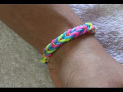 How To Make Fishtail triple color Rainbow Loom friendship band.easy