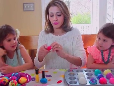How to Marble Easter Eggs with Nail Polish!