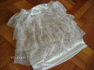 How to Sew a High Waist Ruffled Skirt