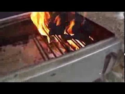 How to start a barbeque fire