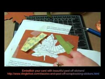 Iris Folded Maple Leaf Card