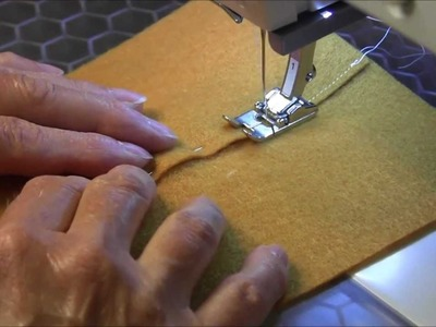 Lapped Seam - When sewing leather, fleece, felt or suede