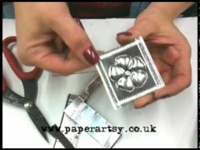 Leandra at PaperArtsy - Puffed Metal Flower