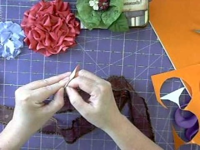 Making flowers using red line tape instead of Gluebers