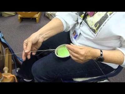 Margaret Tyler Spinning Flax