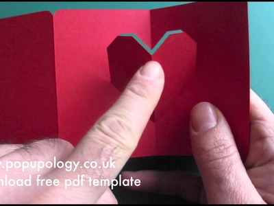Mini Pop Up Valentine's Card # 2 Tutorial