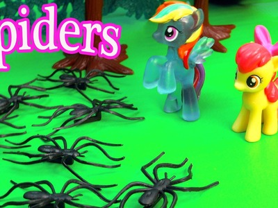MLP Airport - Spider Attack - My Little Pony Travel Part 16 Apple Bloom Video Series