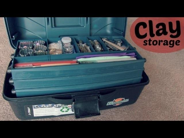 My Polymer Clay Storage. Toolbox
