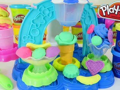 Play Doh Swirl & Scoop Ice Cream Banana Split Sundae Sweet Shoppe Dessert Playset!