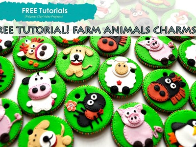 PolyPediaOnline TV - FREE Tutorial How to Create Polymer Clay Animal Charms or Magnets