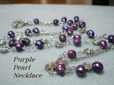 Purple Pearl Bracelet Necklace