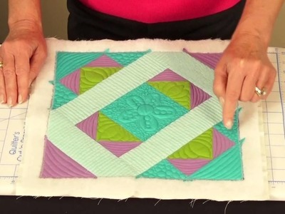 Quilt As You Go, Pre-Printed Batting with Fusible Backing