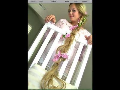 Rapunzel 'Tangled' braided hair tutorial for halloween!  I Naturesknockout.com