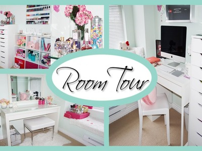 ROOM TOUR 2015 ♥ Office & Vanity Organization + Storage Ideas