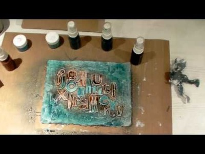 Shimmerz It Canvas and Chipboard Painting Tutorial by Lesley Langdon for Shimmerz Paints