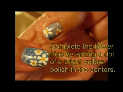 Summer Nail Art: Flower Trio - 3 different ways to make a simple flower using only nail polish