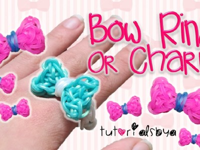 UPDATED Bow Ring. Charm Rainbow Loom Tutorial | How To