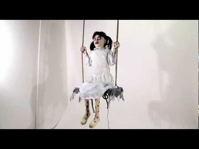 Zombie Girl on Swing - Spirit Halloween