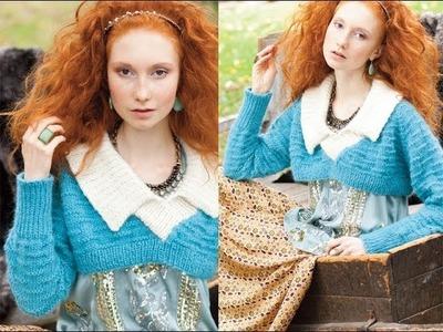 #17 Puritan-Collar Pullover, Vogue Knitting Winter 2013.14