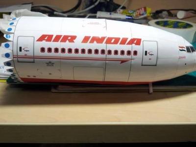Air India Boeing 777-300ER paper model