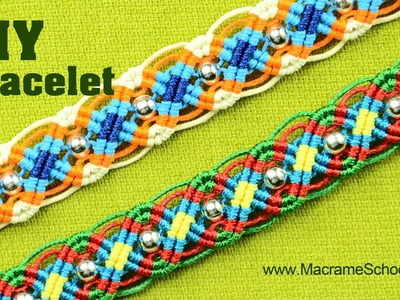 Colorful Macrame Wave Bracelet Tutorial