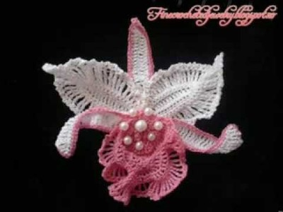 Crochet Orchids by Fine Crocheted Jewelry