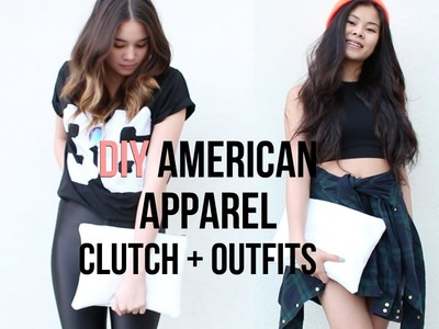 DIY: American Apparel Clutch + Outfits