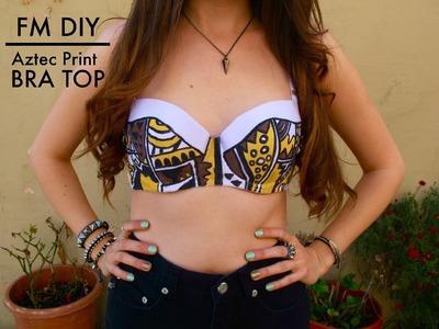 DIY - Aztec Print Bra Top