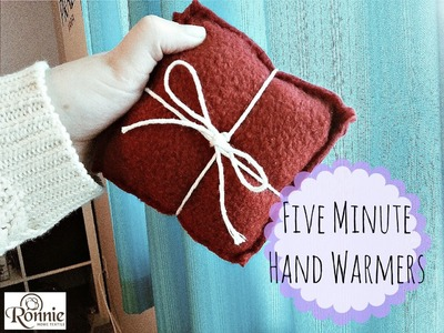 DIY: Five Minute Hand Warmer