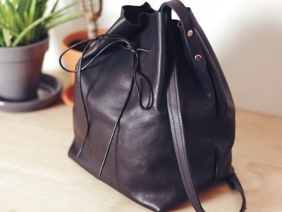 DIY Leather Bucket Bag. DIY sac seau en cuir