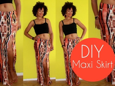 DIY Maxi Skirt with a Slit Side | Sewing For Beginners