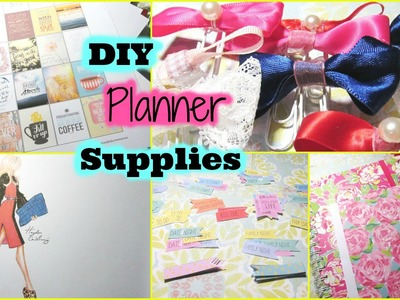 DIY PLANNER SUPPLIES: STICKERS, PAPER CLIPS and ERIN CONDREN DIVIDERS!