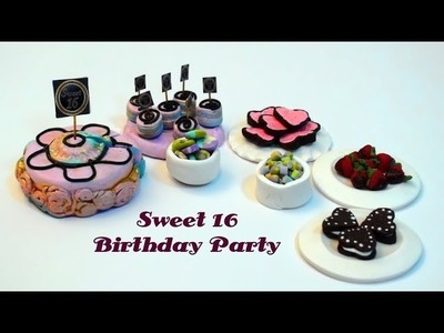 DIY: Sweet 16 Birthday Party Treats With Polymer Clay: Cake, Cookies,Candies