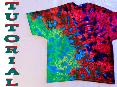 DIY Tie Dye Crinkle Scrunch Shirt [Short Tutorial]