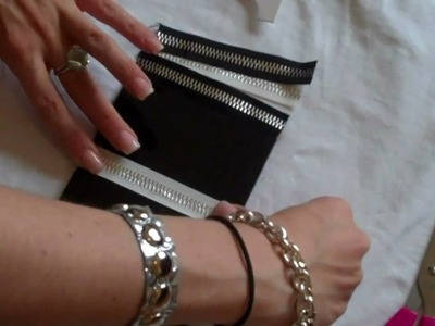 DIY Zipper Mirror  by New York Design Shop