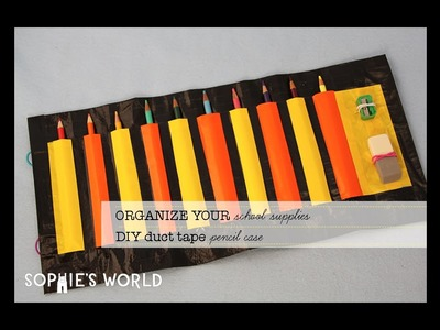 Duct Tape Pencil Case Roll-Up|Sophies World
