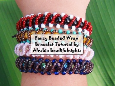 Fancy Beaded Wrap Bracelet Tutorial