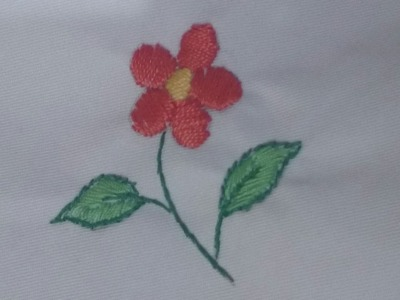 * Hand Embroidery Flowers - stem stitch - Filling Stitch - Tutorial .