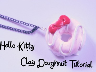 Hello Kitty Polymer clay decoden necklace tutorial.