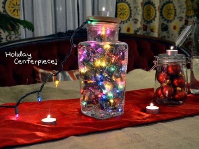 Holiday Tutorial #5 DIY Centerpiece - Mr. Kate 12 DIYS of The Holidays