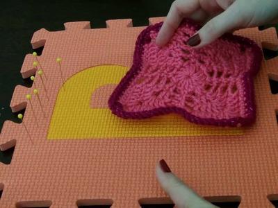 How I block my crocheted work