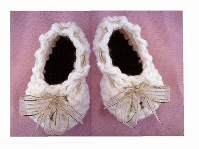 HOW TO CROCHET BALLERINA BOOTIES