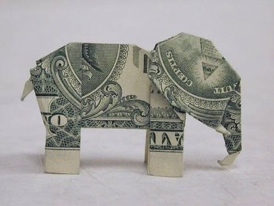 How To Make A Dollar Bill origami elephant