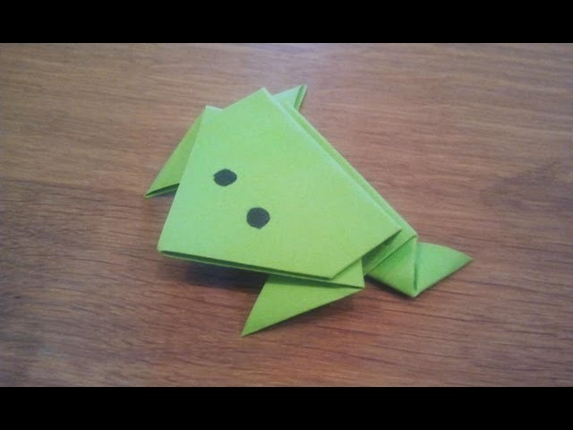 How To Make a Paper Jumping Frog - Origami