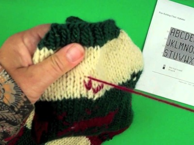 How to work Duplicate Stitch on Knit Fabric