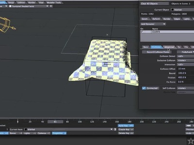 Lightwave Tutorial: Shaping A Blanket with Dynamics