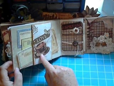 Lovely Coffee Themed Paper Bag Mini Album by Scrapbookgiggles, Sallie