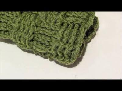Make It Monday   Crochet Basket Weave