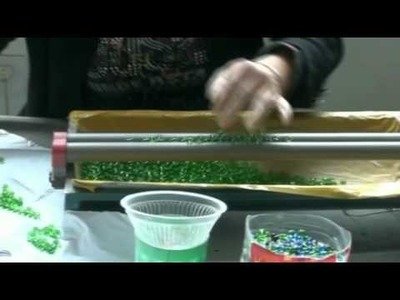 Making glass crystal bead---how to string the crystal glass beads